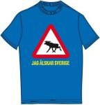 Schweden-Shirt (Frauen) - Elch - blau