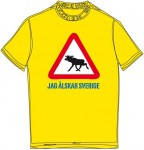 Schweden-Shirt (Männer) - Elch - gelb