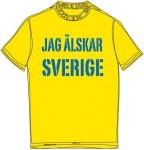 Schweden-Shirt (Männer) - Sverige - gelb