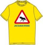 Schweden-Shirt (Frauen) - Elch - gelb